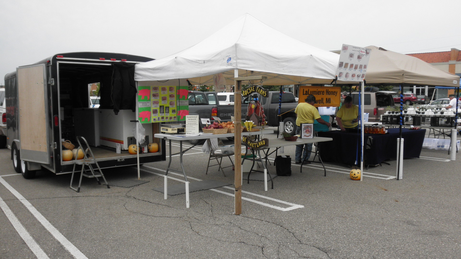 Our booth at the Green Oak Farmer's Market May 2013